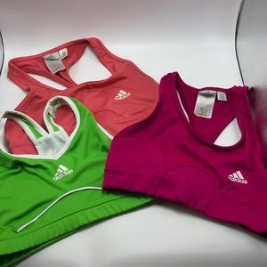 Lot of 3 Adidas Sports Bras Size 34